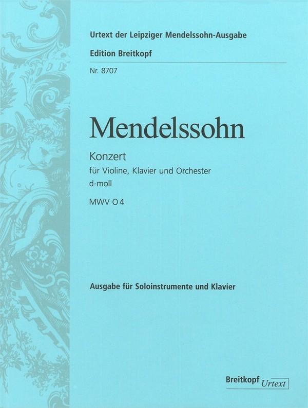 Mendelssohn-Bartholdy, Felix - Konzert d-Moll für Violine, Klavier