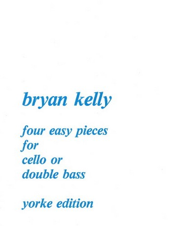 4 easy Pieces: for cello or double bass and piano