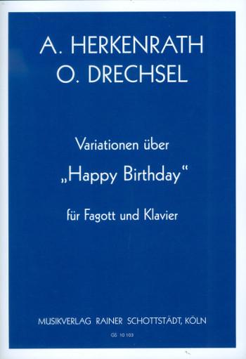 Variationen über Happy Birthday: für Fagott und Klavier