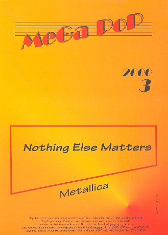- Nothing else matters : Einzelausgabe
