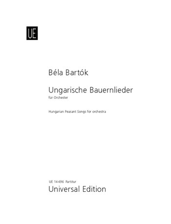 Bartók, Béla - Ungarische Bauernlieder :