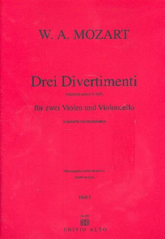 3 Divertimenti nach KV439b: für 2 Violen und Violoncello, stimmen