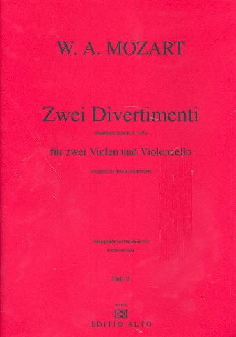 2 Divertimenti nach KV439b: für 2 Violen und Violoncello
