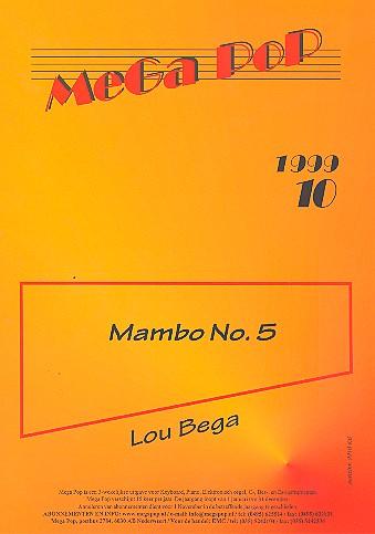 Mambo no.5: Einzelausgabe für Keyboard (mit Text)
