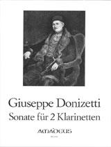 Donizetti, Gaetano - Sonate : für 2 Klarinetten