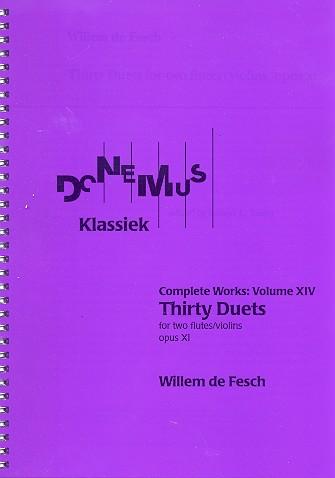 30 Duets opus.11: for 2 flutes (violins)