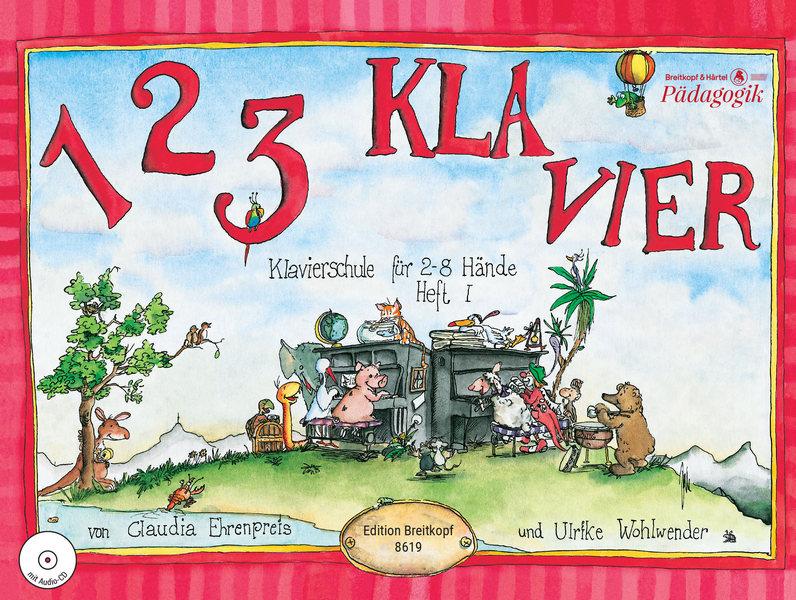 1 2 3 Klavier Band 1 (+CD): Klavierschule für 2-8 Hände