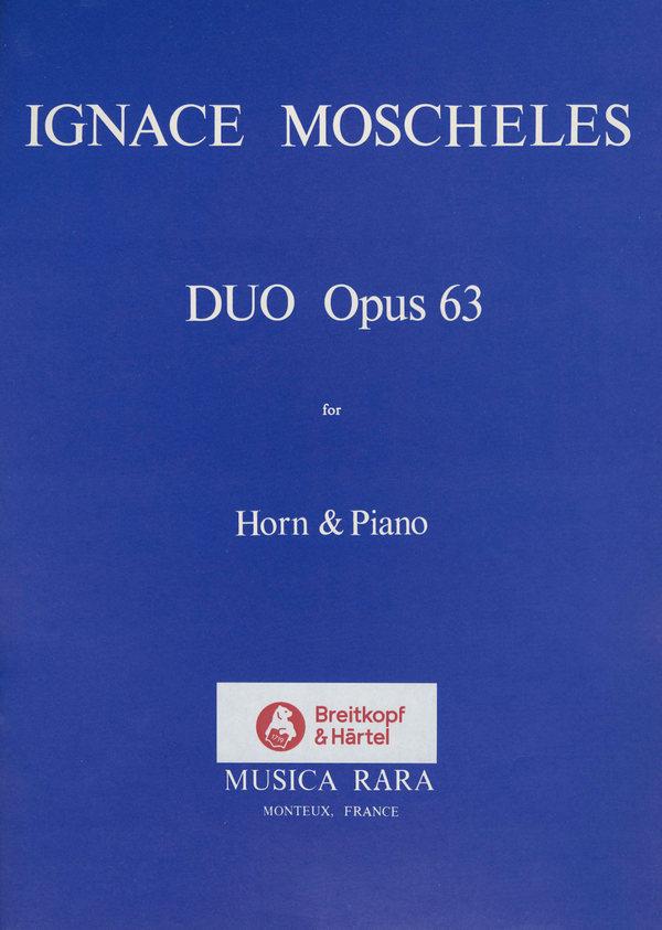 Moscheles, Ignaz - Duo op.63 : für Horn und Klavier