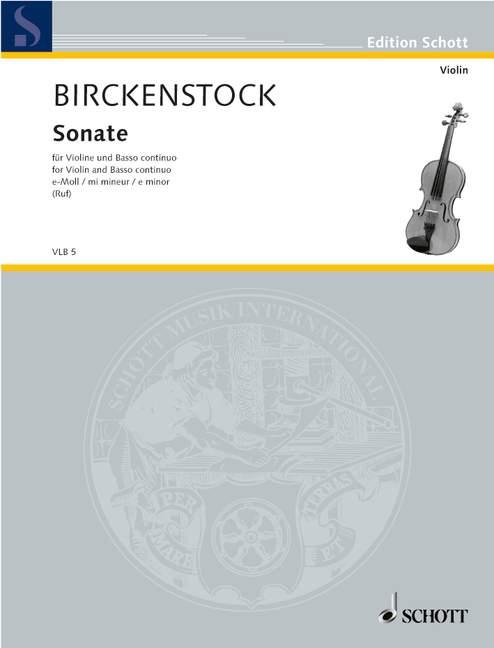 Sonate e-Moll: für Violine und Klavier