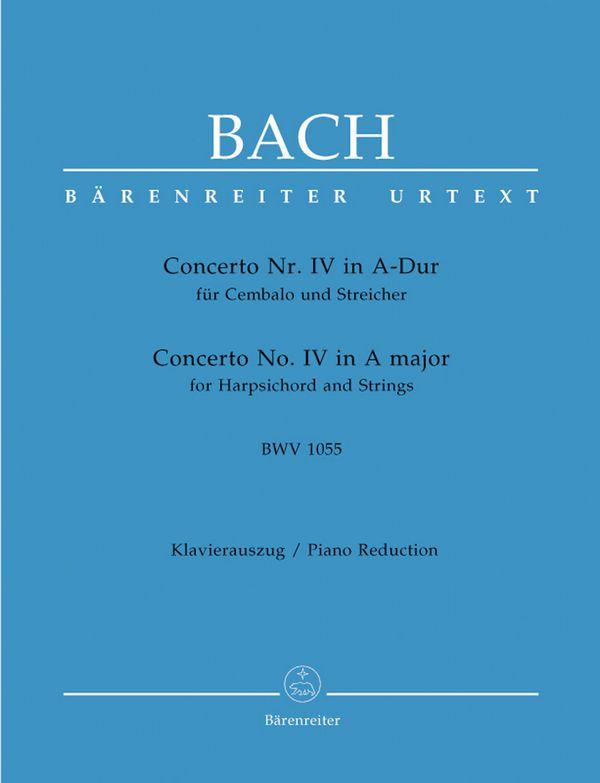 Bach, Johann Sebastian - Konzert A-Dur BWV1055 für Cembalo