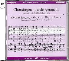 Händel, Georg Friedrich - Der Messias : 2 CD's Chorstimme Alt