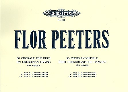 10 Choralvorspiele opus.77: für Orgel