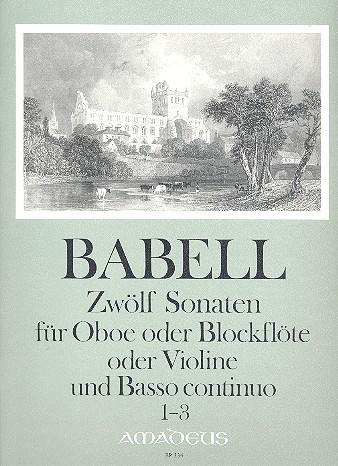 12 Sonaten Band 1(Nr.1-3): für Oboe (Blockflöte, Violine) und Bc