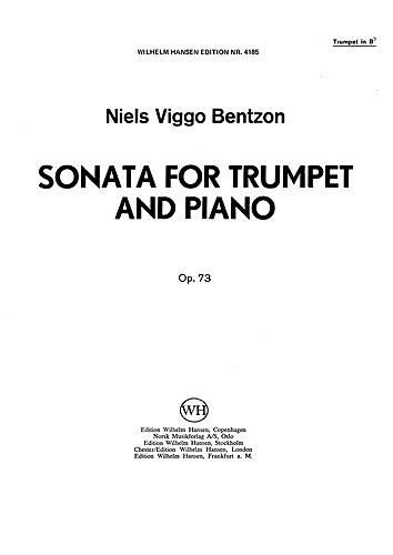SONATA: FOR TRUMPET AND PIANO, opus. 73