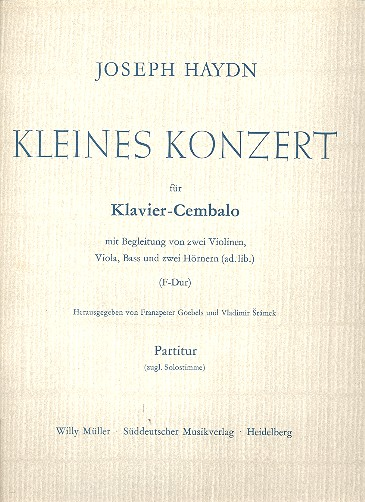KLEINES KONZERT F-DUR: für KLAVIER UND ORCHESTER