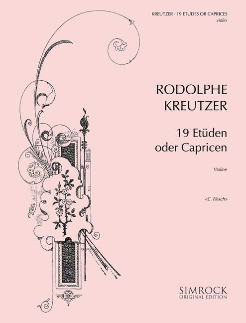 19 Etüden oder Capricen: für Violine solo
