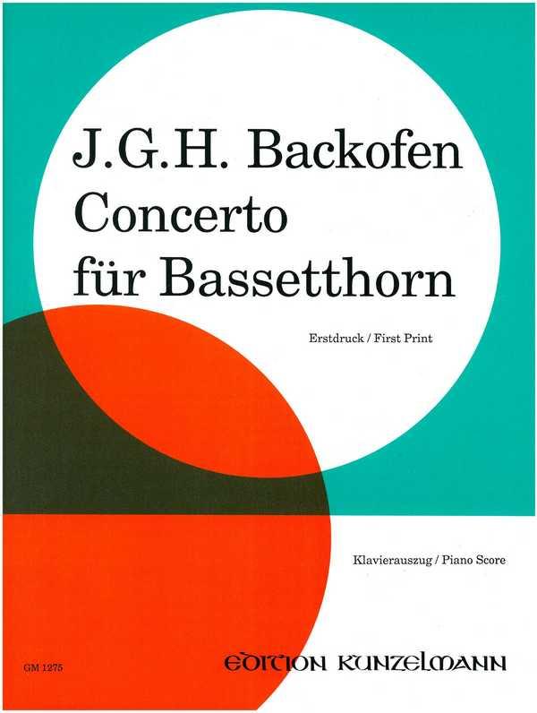Concerto für Bassetthorn und Orchester: für Bassetthorn und Klavier