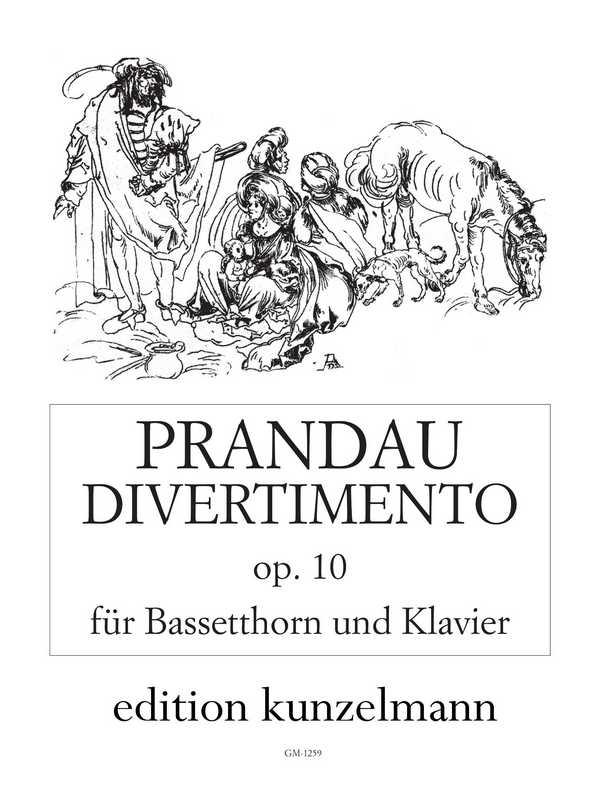 Divertimento opus.10: für Bassetthorn und Klavier
