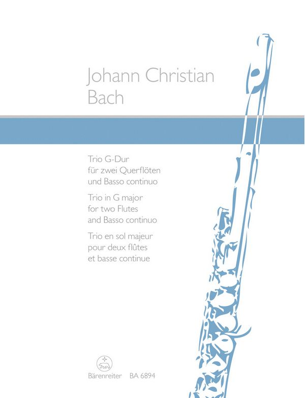 Bach, Johann Christian - Trio G-Dur : für 2 Flöten und Bc