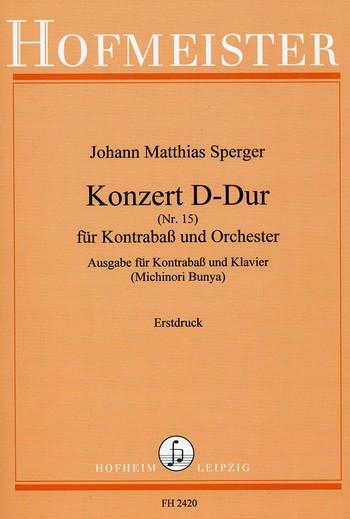 Sperger, Johann Matthias - Konzert D-Dur Nr.15 für Kontrabaß