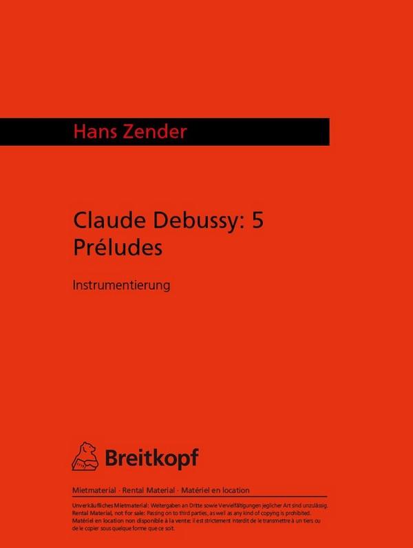 5 Préludes: für kleines Orchester Studienpartitur