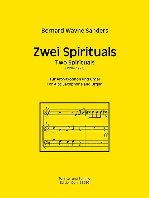 2 Spirituals: für Altsaxophon und Orgel