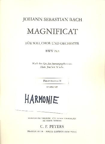 Magnificat D-Dur BWV243: für Soli, Chor und Orchester