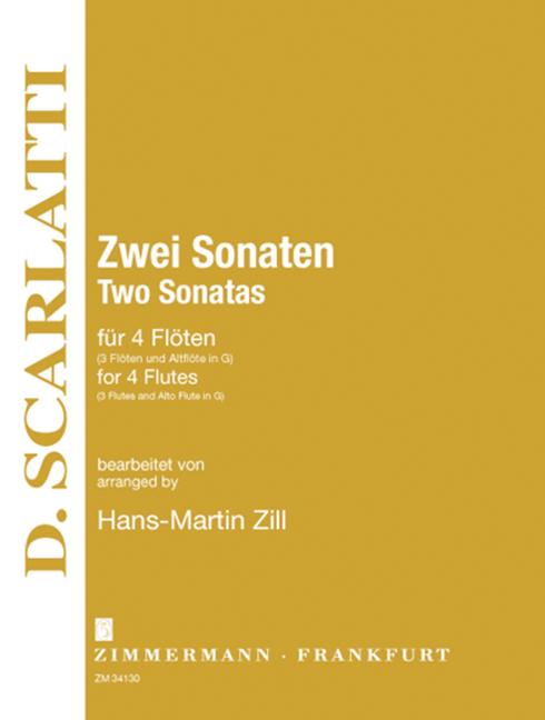 2 Sonaten: für 4 Flöten (3 und Altflöte in G)