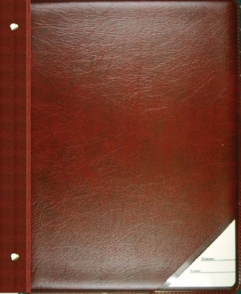 Chormappe mit Buchschrauben 25 Taschen rot