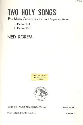2 holy Songs: for mixed chorus and organ (piano)