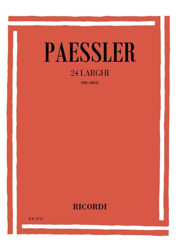 Pässler, Carlo - 24 larghi : per oboe