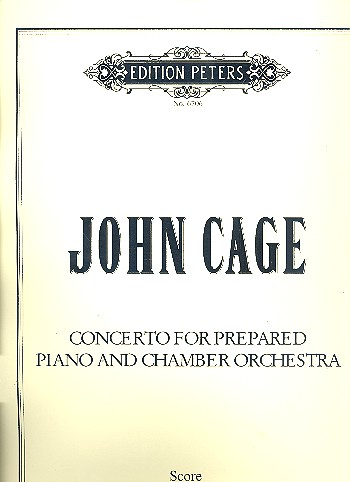 Concerto: for prepared piano and chamber orchestra