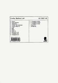 Ouvertüre Berliner Luft: für Salonorchester