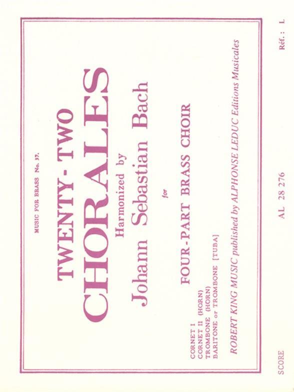 22 chorals: for 4-part brass choir score