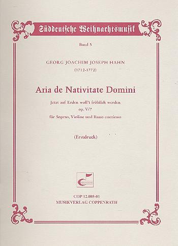 Aria de Nativitate Domini op.5,7: für Sopran, Violine und Bc