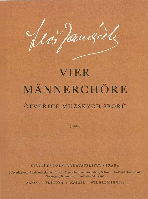 4 Männerchoere a cappella Singpartitur (1886)