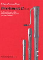 Divertimento C-Dur Nr.2 KV137: für 3 Blockflöten (ATB)