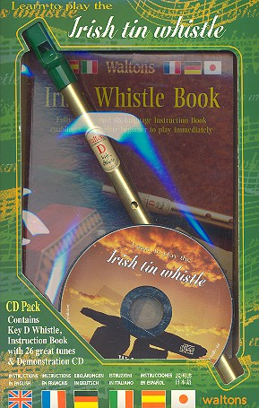 Learn to play the Irish Tin Whistle (+CD +tin whistle in d)