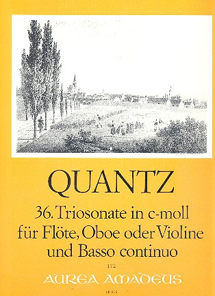 Quantz, Johann Joachim - Triosonate c-Moll Nr.36 : für Flöte,