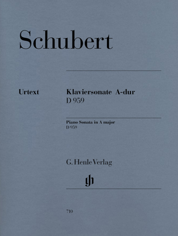 Schubert, Franz - Sonate A-Dur D959 : für Klavier
