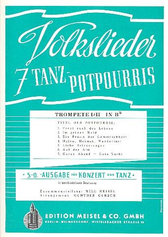 7 Volkslieder-Tanzpotpourris: Trompete 1/2 in B