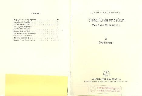 Blüte Frucht und Kern Band 11: neue Lieder für Frauenchor
