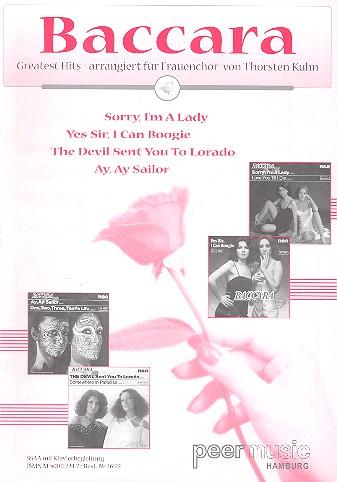 Baccara: Greatest Hits für Frauenchor (SSAA) und Klavier