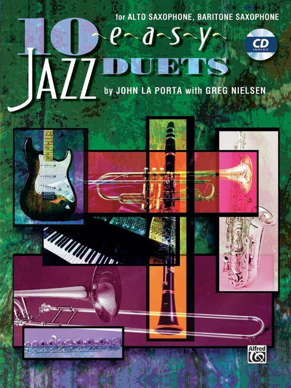 10 easy Jazz Duets (+CD): for alto and baritone sax