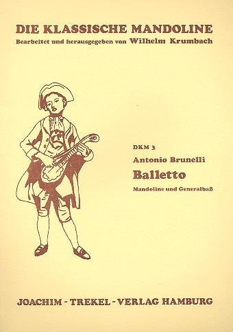 Balletto: für Mandoline und Bc