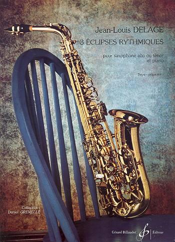 3 eclipses rythmiques: pour saxophone (A/T) et piano