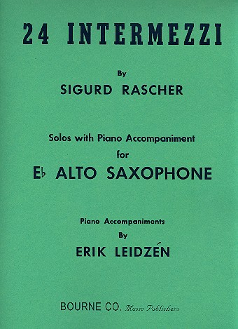 24 intermezzi: for alto saxophone and piano