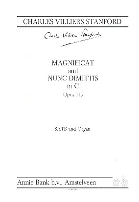Magnificat and nunc dimittis c major op115: für gem Chor und Orgel