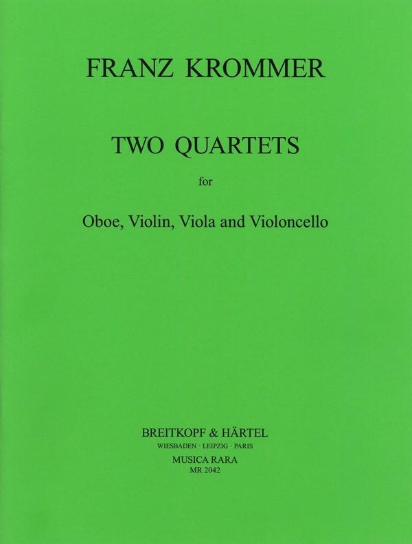 2 Quartets: for Oboe, violin, viola and cello