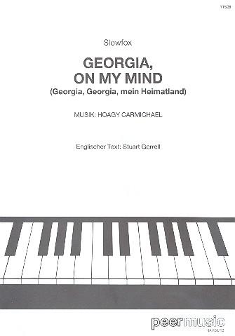 Georgia on my Mind: Einzelausgabe für Gesang/Klavier mit Akkorden (en)